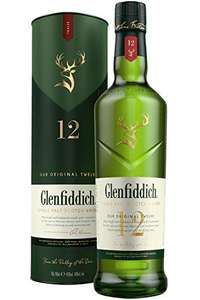 Glenfiddich 12 Year Old Single Malt Scotch Whisky with Gift Box, 70 cl £27 @ Amazon