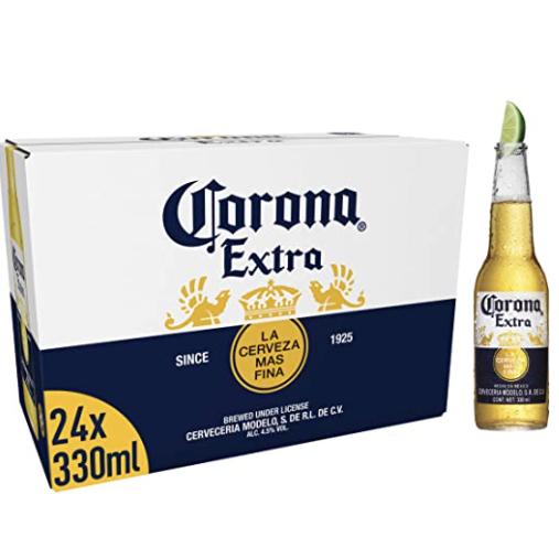 Corona 24 x 330ml bottles £17.33 prime / £21.82 non prime Amazon