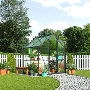 Garden Grow Traditional Greenhouse 6.2 X 4.3 X 6.6ft Grey or Green - £279 Delivered with membership and code @ Thompson & Morgan