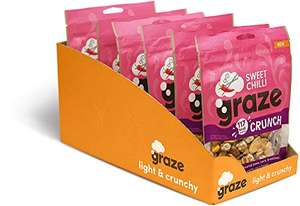 Graze Sweet Chilli Crunch - Vegan Savoury Healthy Snack Sharing Bag - 104g (Pack of 6) £9 / £8.55 S&S (Prime) / £13.49 (non Prime) at Amazon