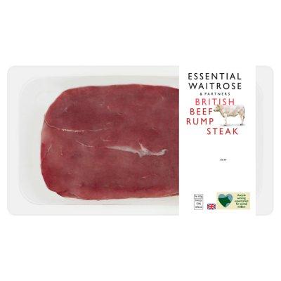 Essential British Beef Rump Steak 230g - £2.50 (+ Delivery Charge / Minimum Spend Applies) @ Waitrose & Partners