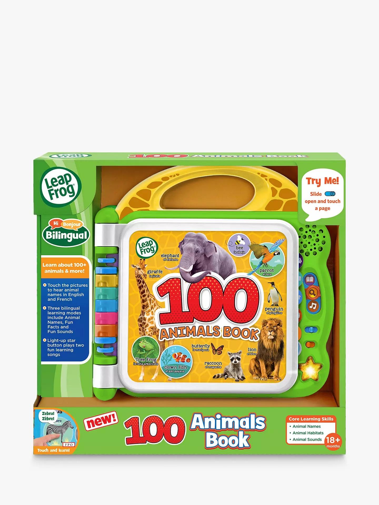 Leapfrog 100 animal electronic book, £15.99 Amazon Prime / £20.48 Non Prime @ Amazon