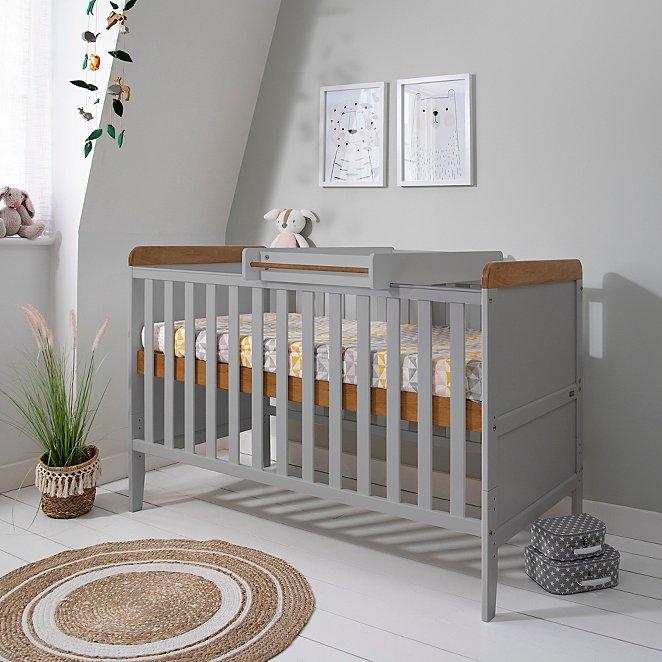 Tutti Bambini Rio Cot Bed Bundle Dove Grey & Oak £161.95 delivered @ George (Asda)