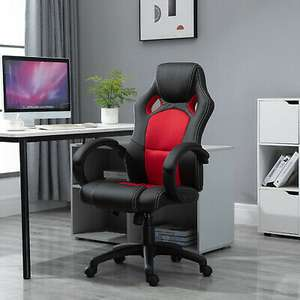 HOLCOM office gaming chair Red/black £67.99 (Nectar code) / £71.99 (without nectar) @ mhstarukltd / eBay