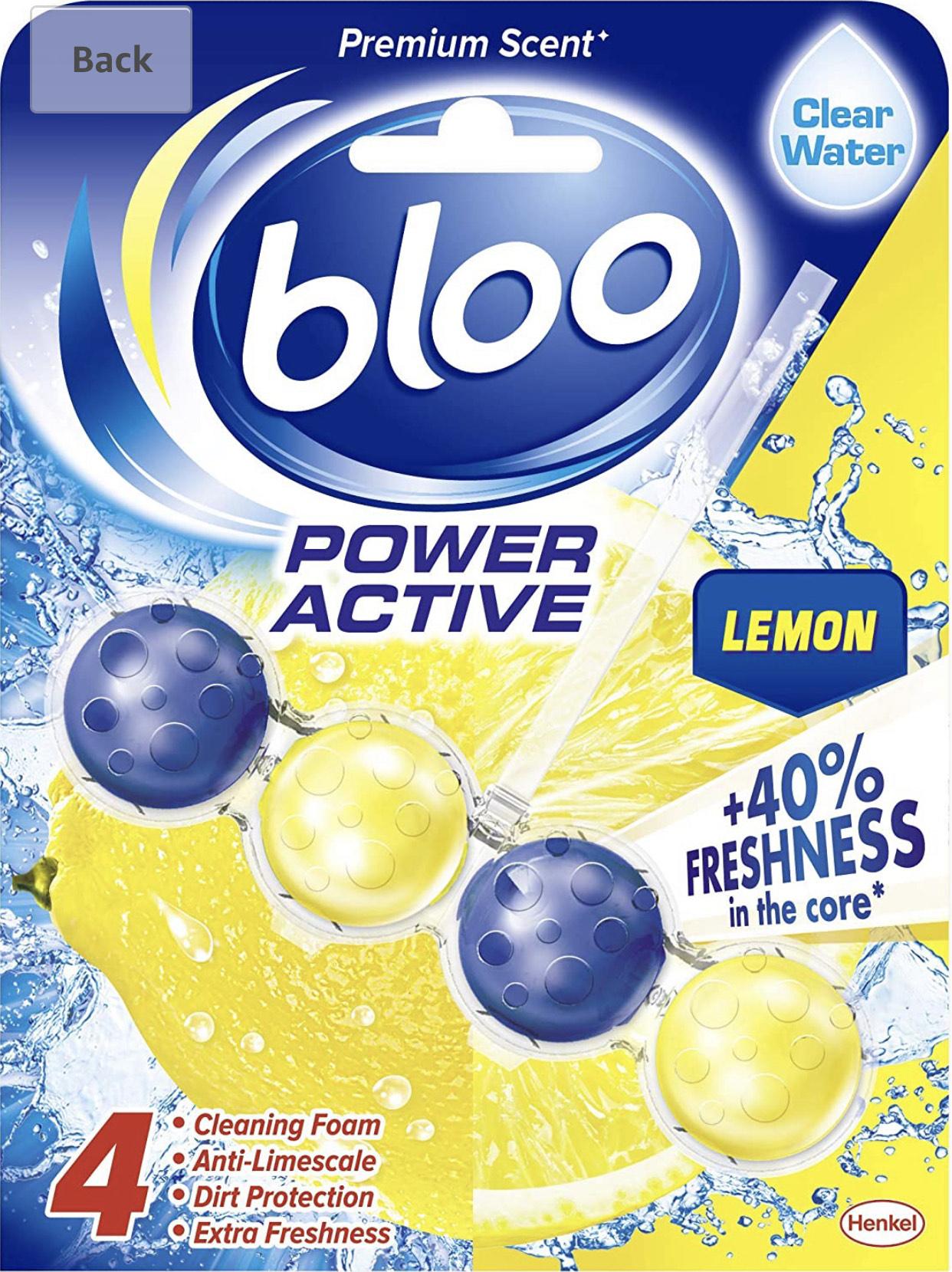 Bloo Power Active Toilet Rim Block Lemon 50g - £1 Prime (+4.49 Non Prime) @ Amazon
