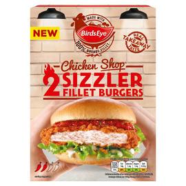 Birds Eye 2 Chicken Shop Sizzler Fillet Burgers 227g / Birds Eye 2 Chicken Shop Ultimate £1.50 (+ Del Charge / Min Spend Applies) at Iceland