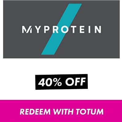 MyProtein - 40% student discount with Totum login