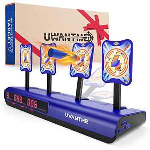 UWANTME Electronic Shooting Target for Nerf Guns Toys Scoring Auto Reset Digital Target Toys for Kids - £19.94 @ Sold by VIRIITA and FBA