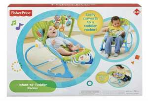 FISHER-PRICE INFANT TO TODDLER ROCKER/BOUNCER BLUE & GREEN ELEPHANT THEME SALE - £49.99 @ bargaintoypark eBay