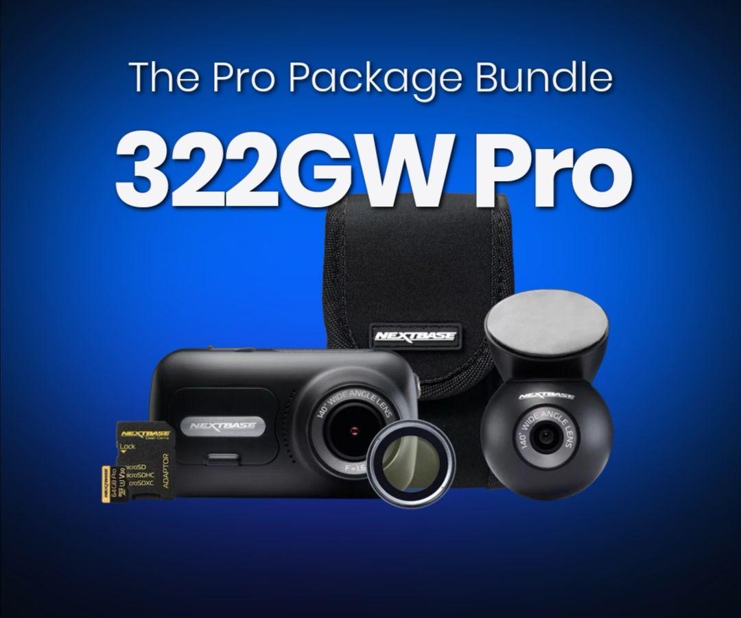 Nextbase 322GW Pro Package Bundle £149.99 @ Nextbase