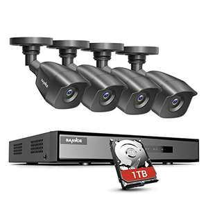 SANNCE 8 Channel 1080P Outdoor CCTV Camera System, 4pcs 1080P - £140.15 Sold by SMG-SANNCE MINDKOO GLEDTO Ltd and Fulfilled by Amazon