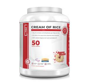 CSN Supplements Cream Of Rice 2.5kg (strom caramel white choc & strawberry bananna flavours) £18 + £2.99 delivery @ Cardiffsportsnutrition