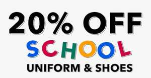 20% off school uniform and shoes - Delivery from £2.95 @ George at Asda