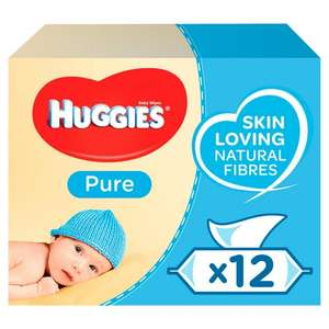 Huggies Pure Wet Baby Wipes Odour Free 56x12Pk £7 (Minimum Basket / Delivery Fees Apply) @ Sainsbury's