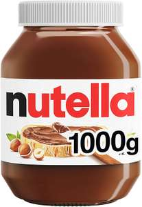 Nutella Hazelnut Chocolate Spread, 1kg each (Pack of 2) - £7.50 (£6.38 with S&S / + £4.99 Non-Prime) @ Amazon