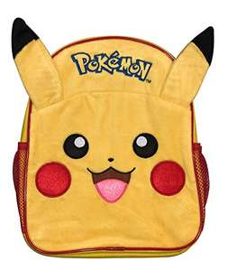 Official Pokemon Pika Pika Luxury 3D Plush Fronted Pikachu Backpack School Bag £8.99 (Prime) + £4.49 (non Prime) at Amazon