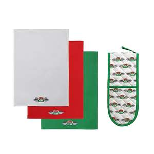 Friends Central Perk Double Oven Glove and Tea Towels £10 +£2.95 delivery @ George Asda