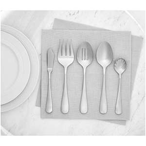 Amazon Basics 65-Piece Stainless Steel Flatware Set with Round Edge, Service for 12 £26.95 delivered at Amazon