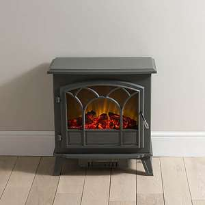 1850W Free-Standing Off-White Stove Effect Heater (3 Styles) Now £69.50 / Small Black Stove Effect Heater now £33.95 delivered @ Dunlem