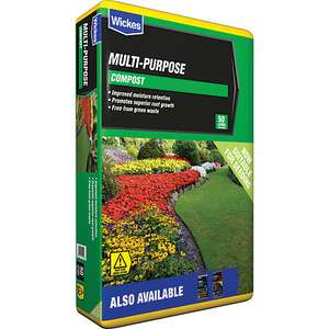 3 for £12 on Wickes Multipurpose and Peat Free Multipurpose Compost 50L bags for £19.95 delivered @ Wickes