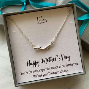 Personalised Silver Branch charm necklace for £12.90 delivered using code @ Lily Charmed