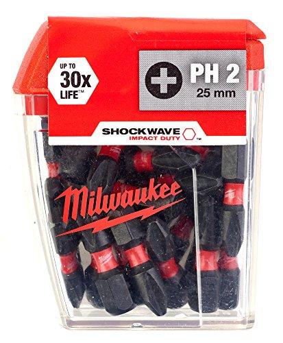 Milwaukee Shockwave Impact PH2 Screwdriver Bits - £8.94 (+£4.49 Non Prime) from Amazon