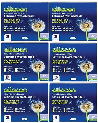 Allacan Cetirizine Hayfever Allergy Tablet (30 x 6 / 6 Months Supply ) £3.30 (+£4.49 Non Prime) @ Amazon / Xtremepharmacy