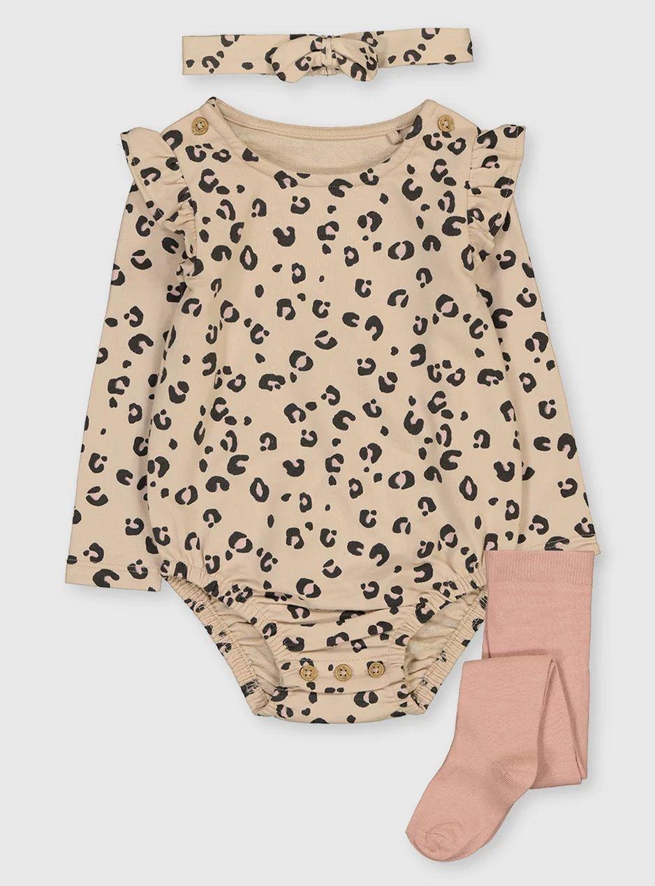 Leopard Print Bodysuit, Headband & Tights Set (0-24 Months) £4 + £3.95 delivered @ Sainsbury's