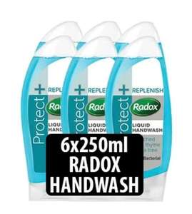 6x 250ml Radox Antibac Hand Wash - £1.89 @ Farmfoods