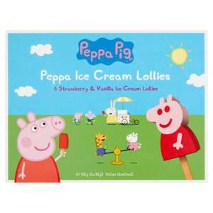 6 Pack Peppa Pig Strawberry & Vanilla Ice Lollies are 99p @ Farmfoods
