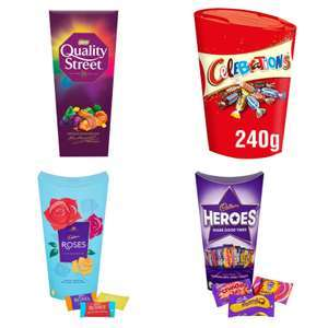 Quality Street, Celebrations 240g, Heroes, Roses 290g - £2.00 per pack (Minimum Basket / Delivery Fees Apply) @ Sainsbury