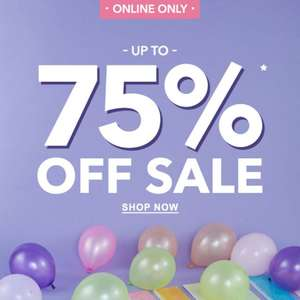up to 75% off Sale at Claire's - from £1.50 + £3.50 delivery (free delivery on £20 spend)