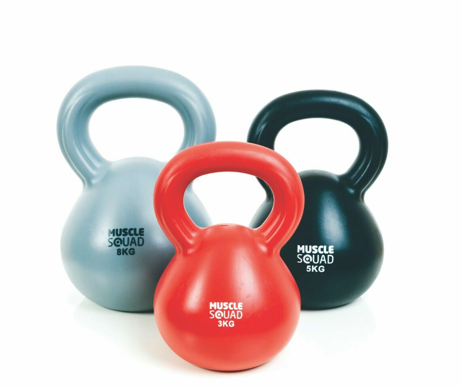Musclesquad Kettlebell Set 3kg, 5kg, & 8kg set for £22.09 delivered @ eBay / musclesquad