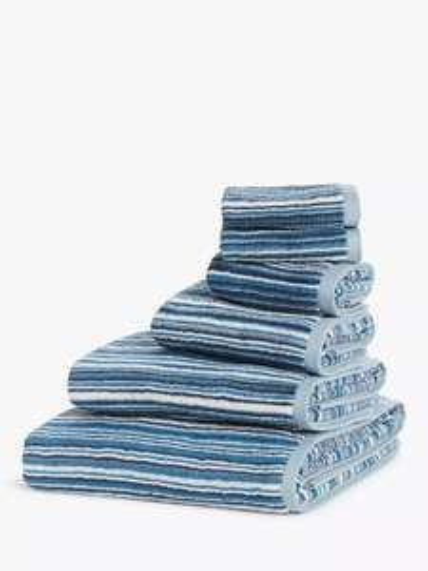 John Lewis & Partners Stripe Towels, Blue £3.00 - £8.00 + £3.50 del at @ John Lewis & Partners