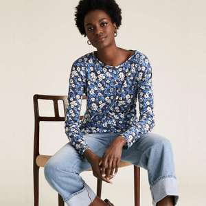 Selected Women's Tops now just £5.00 - e.g Linen Floral Straight Fit Top now £5.00 (£3.50 delivery / free on £50 spend) @ Marks & Spencer