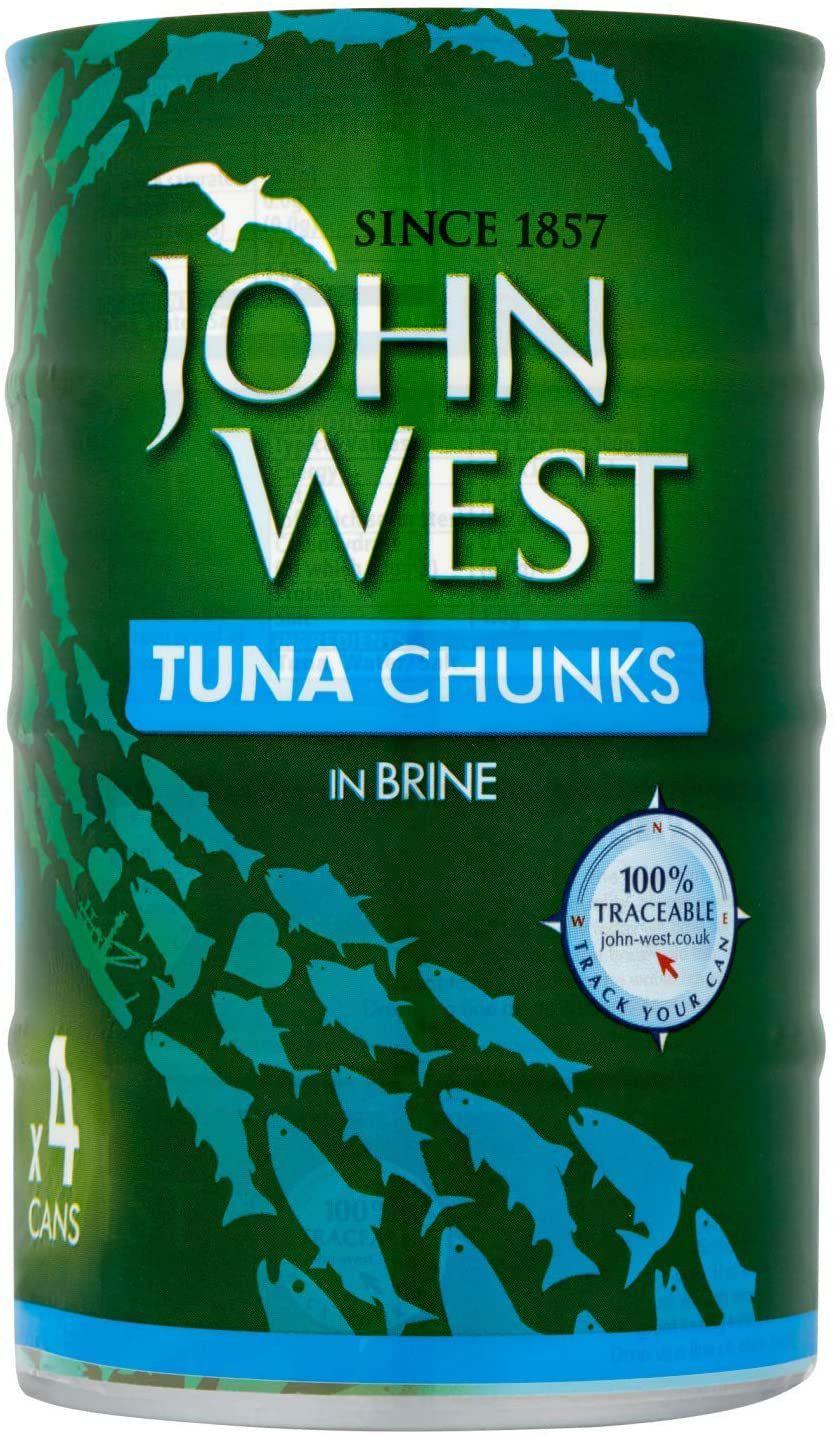 John West Tuna Chunks In Brine, 4 x 145g £2.97 @ Amazon (£4.49 p&p non prime) £2.82 s&s