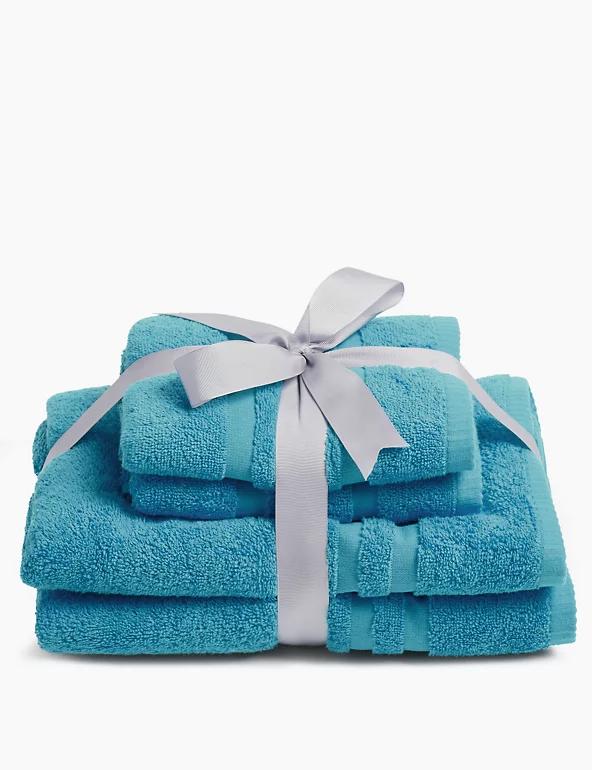 4 Piece Super Soft Pure Cotton Towel Bale (Various Colours) - £9 (Free C&C) @ Marks & Spencer