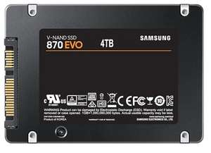 "4TB - Samsung 870 EVO SATA 2.5"" SSD - 560/530MB/s R/W (4GB Dram Cache) for £395 / £355.50 Delivered for Students @ Samsung Store"