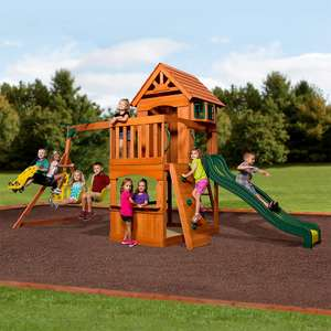 Backyard Discovery Atlantic Wooden Swing Set (3-10 Years) - £589.99 delivered @ Costco