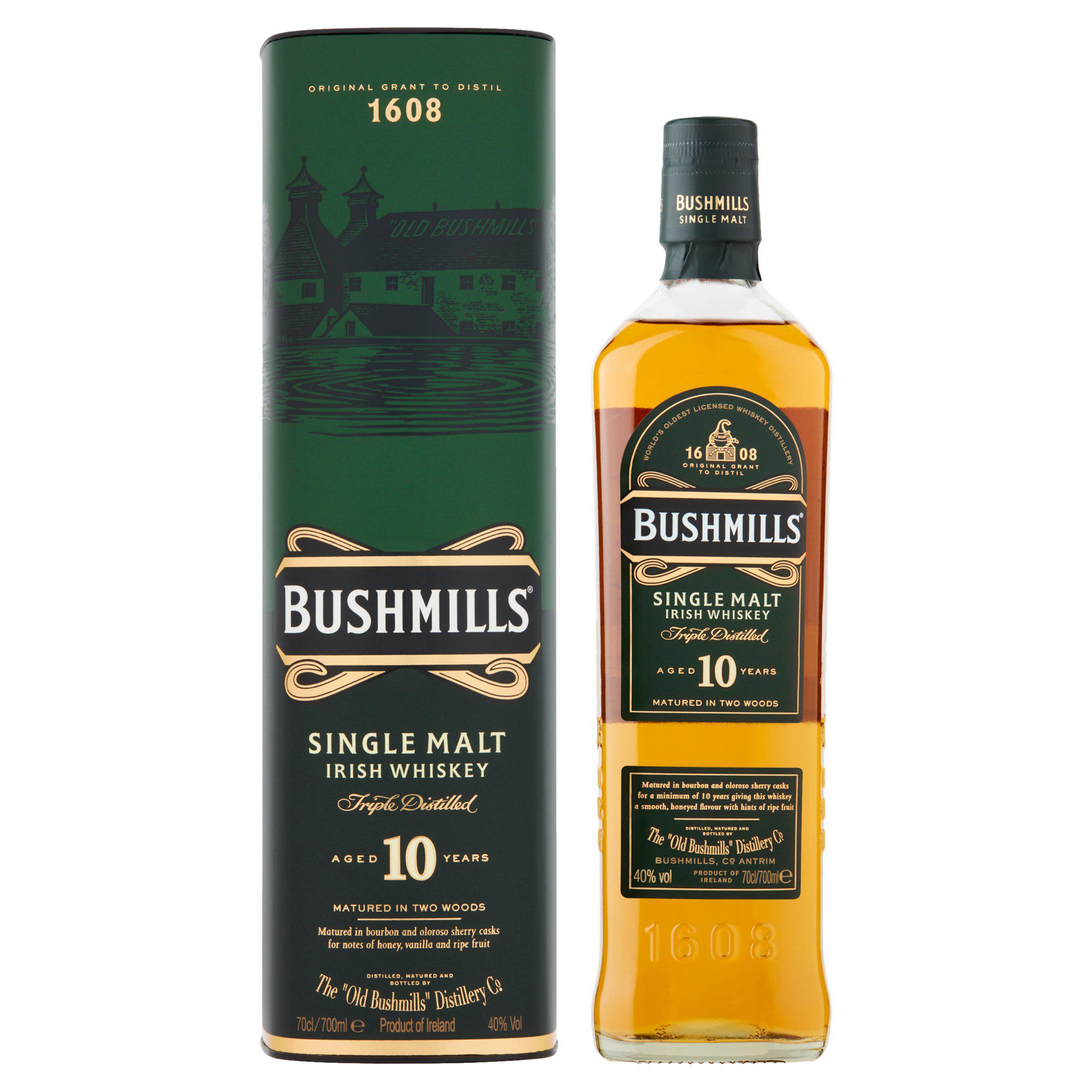 Bushmills 10yr Irish Malt 70ml £25 (Minimum Basket / Delivery Fees) @ Sainsbury's