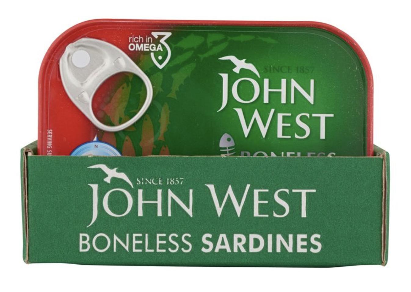 John West Boneless Sardines in Tomato Sauce, 12 x 95g - £7.99 Instore @ Costco