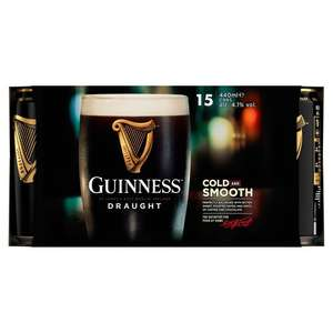Guinness Draught Stout Beer 15x 440ml - £9.50 Instore @ Asda (Norwich)