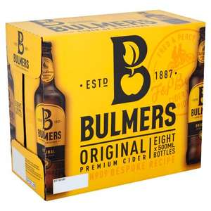 Bulmers Original Apple Cider 8X500ml - £6 (+ Delivery Charges / Min Spend Applies) @ Tesco