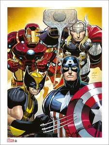 Limited Edition (Only 50 Produced) Marvel: Giclee Print: Avengers 2 By John Romita Jr (Signed & Numbered) £20.49 del @ Forbidden Planet