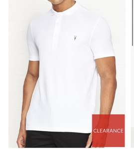 All saints mens reform white polo shirt - £17 + £3.99 delivery @ Very