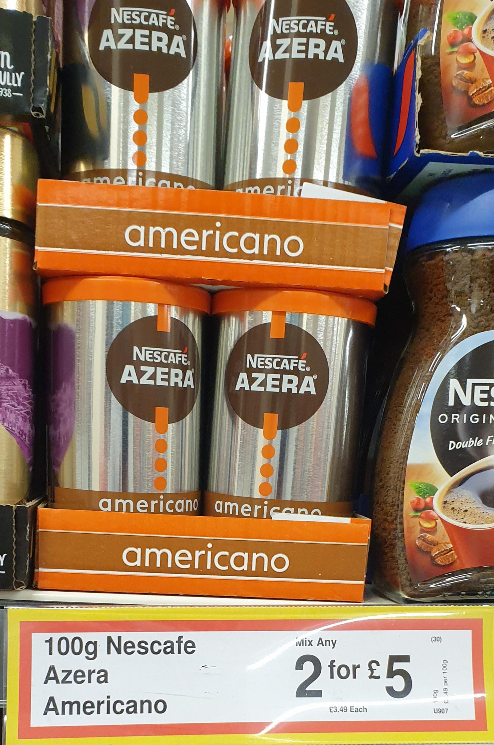 Nescafé AZERA Americano 100g - 2 for £5 at FarmFoods Barrhead