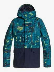 70% Quiksilver snow wear - Jackets from £54 eg Mission Printed Block - Snow Jacket for Men Delivered @ Quiksilver Shop