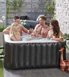 Hot Tub - 4 Person Square Black Spa - £229.99 with code delivered @ Studio
