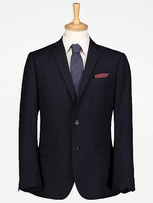 Navy Regular Fit Suit Jacket - £16 (£2.95 delivery) @ George Asda