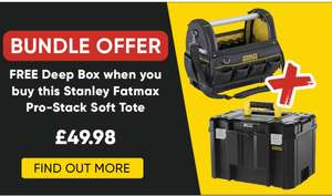 Stanley Fatmax Pro-Stack Storage Bundle - Free Deep Box When Buying Soft Tote - £49.98 delivered at Toolstation